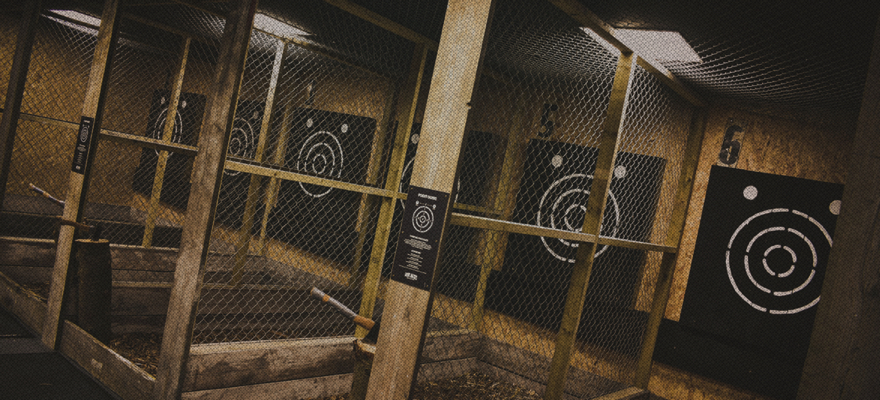 Axe throwing lanes and targets